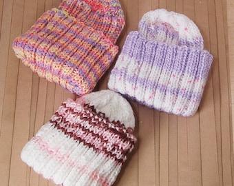 Baby Hand Knitted Beanie Stocking Cap Hat