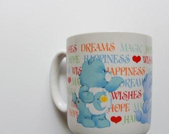 Vintage Care Bear Coffee Mug 1984