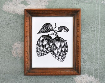 Beer Hops - Microbrew Art Print Beer Gift
