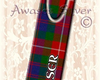 Metal bookmark with high quality printed original images. Clan Fraser of Lovat Tartan on high quality metal bookmark #2. Clan Fraser