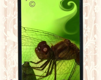Beautiful Dragonfly iPhone 5c or 5s case Dragonfly closeup iPhone 5c case black rubber base