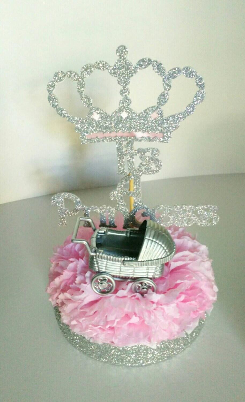 Itu0027s A Princess, Centerpieces, Baby Shower, Itu0027s A Girl, Princess Theme,  Royal Baby Shower, Set Of 2