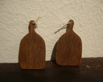 miniature cutting board, walnut