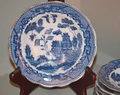 Vintage Blue Willow Berry Bowls