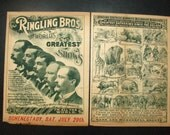 RESERVED FOR THADDEUS Ringling Brothers circus complete original program 1895. circus collectible memorabilia