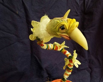 The Chamberlain: Handmade sculpture of a very strange bird