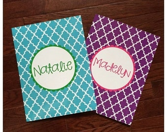Personalized Folder . Quatrefoil Foil . Business Folder . School Folder . Teacher Folder . Small Business Folder . Custom Folder