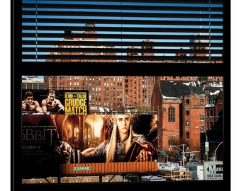 iCanvas New York Buildings - Window View Gallery Wrapped Canvas Art Print by Philippe Hugonnard