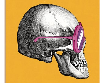 iCanvas Sunny Skull I Gallery Wrapped Canvas Art Print by Elyse DeNeige
