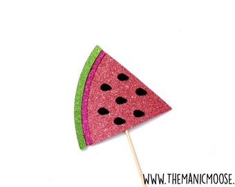 Watermelon Photo Prop ~ Photo Booth Props ~ GLITTER Photobooth Prop ~ Prop Comes Fully Assembled!