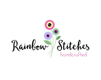 OOAK Premade Logo Design, Customizable Craft Boutique Logo