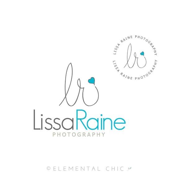 Handwritten Initials Logo and Submark, Photographer Signature Premade Logo Design