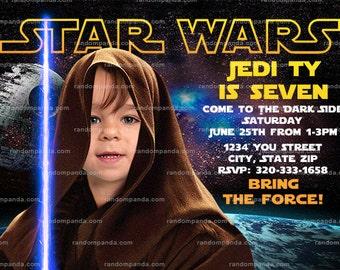 Personalize Star Wars Invitation, Be A Jedi Party, Skywalker Birthday Invite