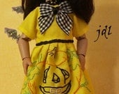 """Pumpkin Party for 8"""" BJD StrawBerina or Ten Ping by JDL Doll Clothes"""