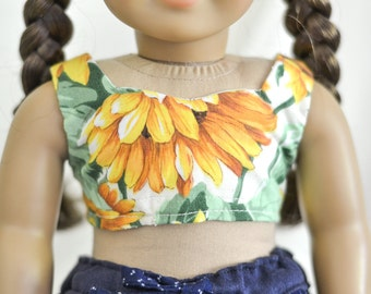 SALE Sunflower Bustier for American Girl dolls
