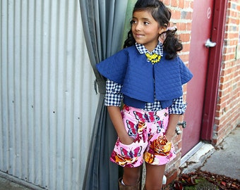 Fawn Bubble and Cuffed Shorts PDF Pattern & Tutorial, All sizes 2-10 years included