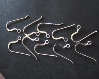 5 Pair Quality Sterling Silver Ear Wires for Earrings, marked 925.