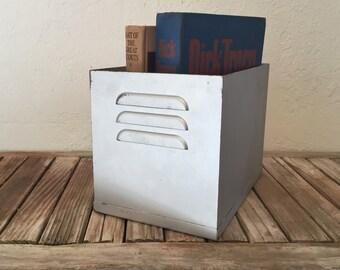 Industrial Silver Metal Locker Bin
