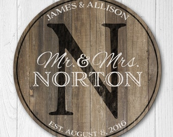 Personalized Wood Family Established Sign, Personalized Family Name Sign, Wood Last Name Plaque