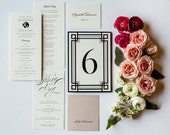 Classic Ave Program, Menu, Escort Card, Place card, Table Number