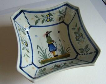 Ceramic Henriot Quimper 99 Brittany Dish