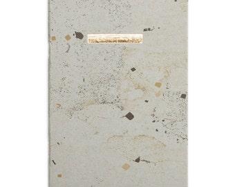 Aureum Cinero - grey blue gold bar - letterpress printed gold - NOTBGA5001