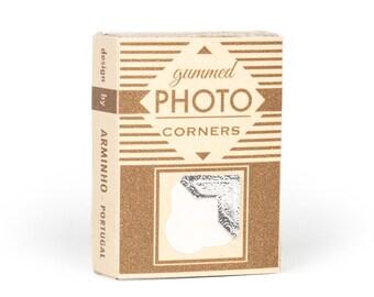 Photo Corner Box - handmade printed photography album corner box - vintage inspired