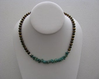 Turquoise and Tigereye Necklace