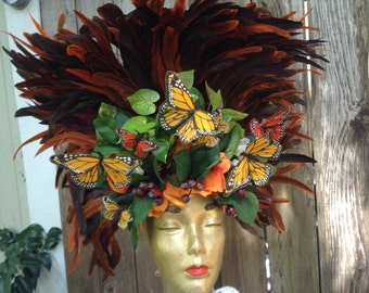 Butterfly Feathered Headdress
