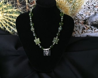 Tiana green princess necklace
