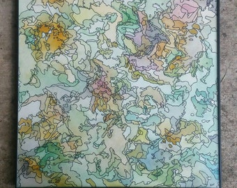 """12""""x12"""" Springtime / Watercolor and Ink"""