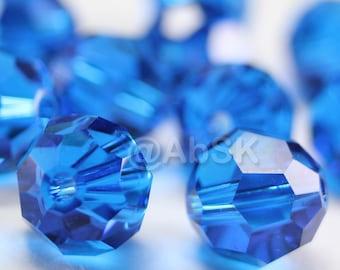 Promotional Item - 120pcs Swarovski Elements 5000 4mm Crystal Round Beads - CAPRI BLUE (While Stocks Last)