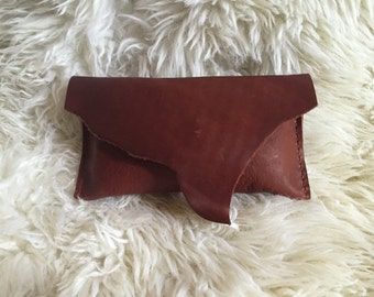 Red Brown Clutch- 1424