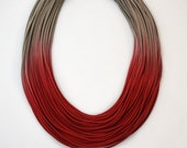 Ombre Statement Fiber Necklace, Street Fashion, Trending Necklace, Bold Necklace, ombre necklace, African Jewelry, boho chic