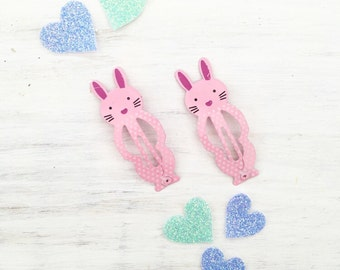 Bunny hair snap clips - cute - pastel - kawaii
