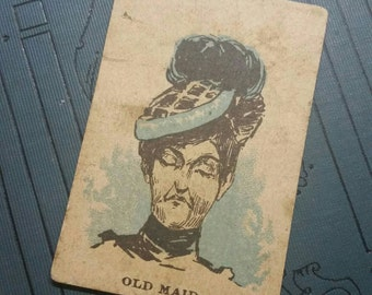 Antique Old Maid Playing Cards