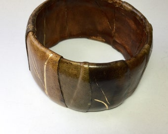 Wide Leather Bangle
