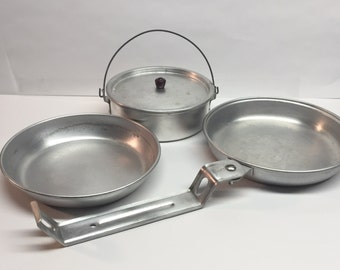 Vintage  Camping Mess Kit Complete 6 Piece