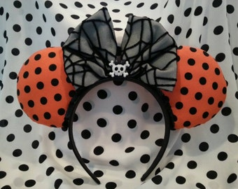 Halloween Mouse Ears (Poka Dots)