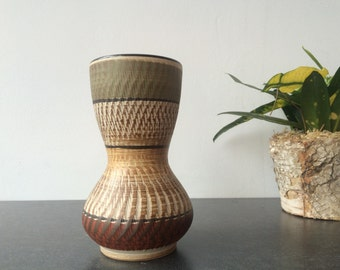 1960s West Germany Small Hourglass Vase