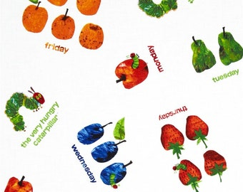 The Very Hungry Caterpillar Fruits From Andover Fabrics by Eric Carle
