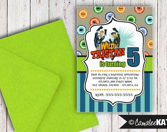Wild Kratts Printable Birthday Invitation - Personalized File - Kratt brothers - Animal Zoo Party