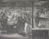 Vintage Film Memorabilia, Western Americana, Vintage Law of the Tombstone Scene Sketch