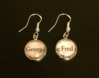 Harry Potter Fred and George Weasley Earrings