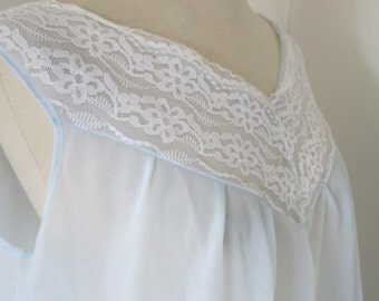 Light blue 60s nightgown