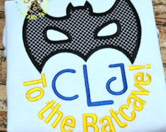 Batman Themed Monogram Disney Shirt - Boy's monogram shirt - Disney Vacation - Batman themed birthday shirt - To the Batcave
