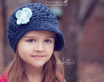 Crochet PATTERN - Crochet Newsboy Hat Pattern - Crochet Hat Pattern - Crochet Patterns for Kids - Baby, Toddler, Adult Sizes - PDF 404