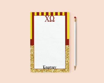Chi Omega/Personalized Notepads