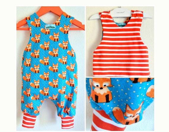 JUMPY Reversible Romper Baby Children Boy Girl sewing pattern Pdf,  Easy, toddler newborn 3 6 9 12 18 m 1, 2 3 4 5 6 yrs Instant Download