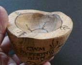 Poem Bowl: 'Held', Plum Wood